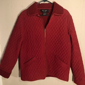 Fu Da. Red Quilted jacket